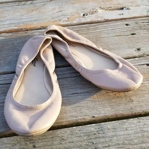 Lucky Brand Emmie Ballet Foldable Nude Flats 8